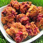 (wheat, gluten and dairy-free, vegan, vegetarian) raspberry pumpkin dog treat/biscuit recipe
