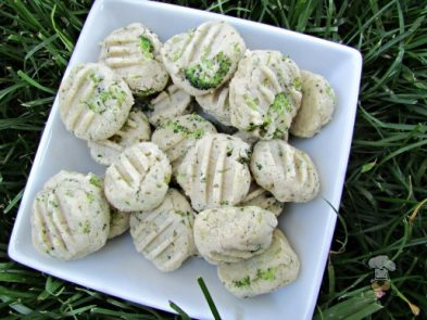 (wheat and gluten-free) broccoli goat cheese dog treat/biscuit recipe