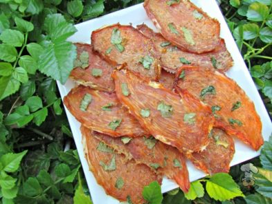 (wheat, gluten, grain and dairy-free) basil pear chicken jerky dog treat recipe