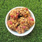 (wheat and dairy-free, vegan, vegetarian) raspberry banana dog treat recipe