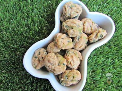(wheat and dairy-free, vegan, vegetarian) apple cucumber dog treat/biscuit recipe