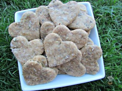 (wheat-free) basil chicken liver dog treat/biscuit recipe