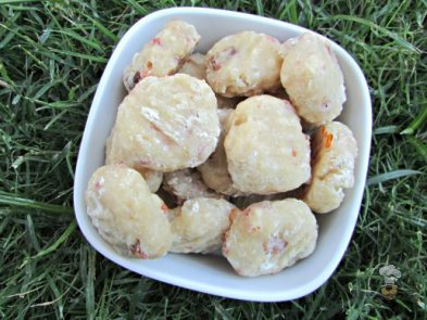apple bacon mozzarella dog treat/biscuit recipe
