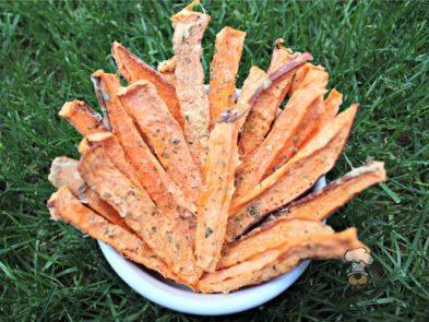 (wheat, gluten, grain and dairy-free, vegan, vegetarian) pineapple basil sweet potato fries dog treat recipe