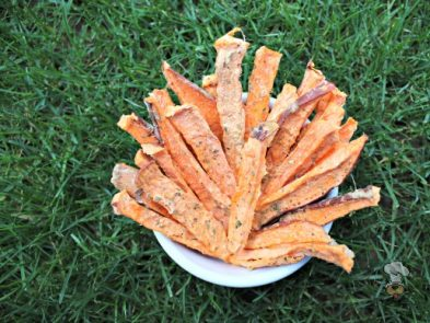 (wheat, gluten, grain and dairy-free, vegan, vegetarian) pineapple basil sweet potato fries dog treat recipe