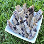 (gluten and wheat-free) blueberry pear biscotti dog treat recipe