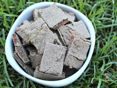(grain, gluten, wheat and dairy-free) bacon herb zucchini dog treat/biscuit recipe