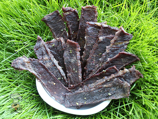 (wheat, grain, gluten and dairy-free) blackberry beef jerky dog treat recipe
