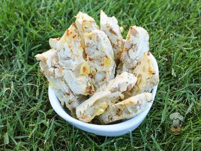 (wheat, gluten and dairy-free) pork and pineapple biscotti dog treat recipe