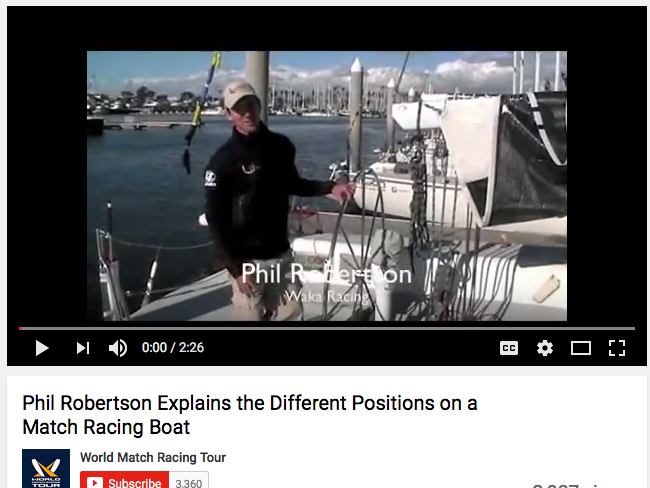 Phil Robertson Explains a Match Racing Boat