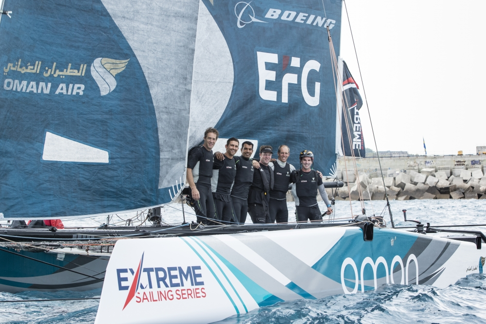 Team Oman Air win Extreme Sailing Series in Barcelona