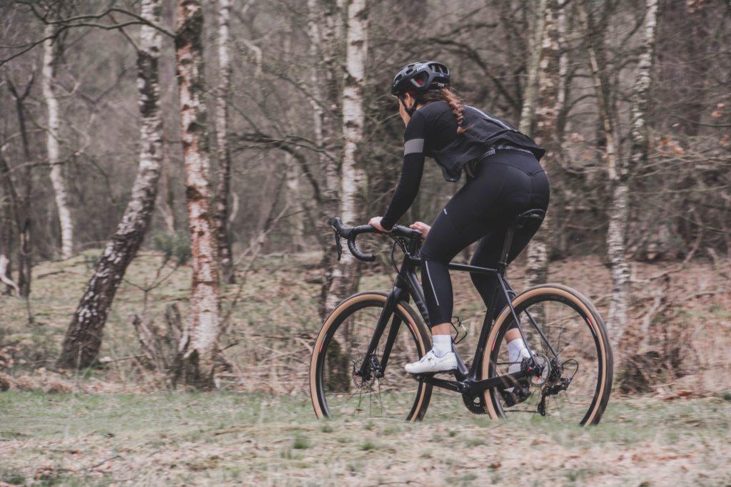 woman riding trail
