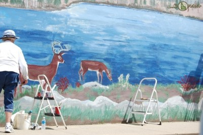 Mural of Craigmont along Main Street