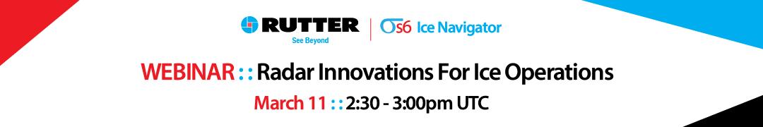WEBINAR: Radar Innovations For Ice Operations