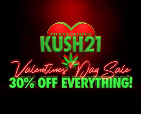 Valentines Day Cannabis Sale at Kush21