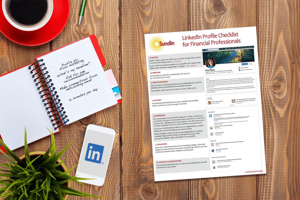 Linkedin Profile Checklist For Financial Professionals Sundin