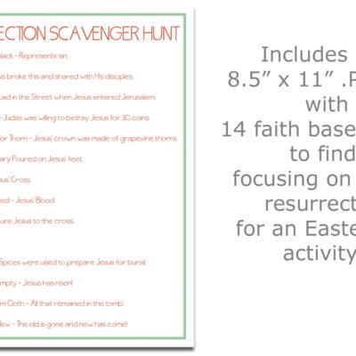 Free Printable Resurrection Scavenger Hunt