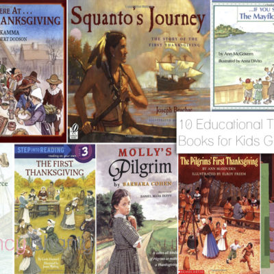 10 Educational Thanksgiving Books for Kids Grades K-8