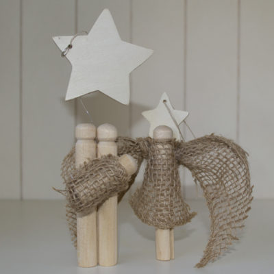 Rustic Clothespin Christmas Ornaments