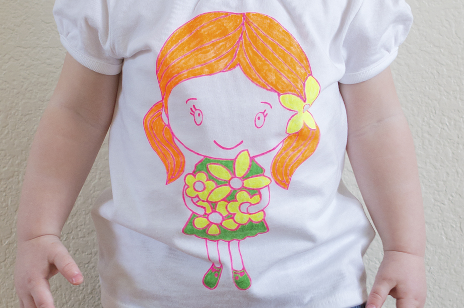 DIY Stenciled Flower Girl Shirt