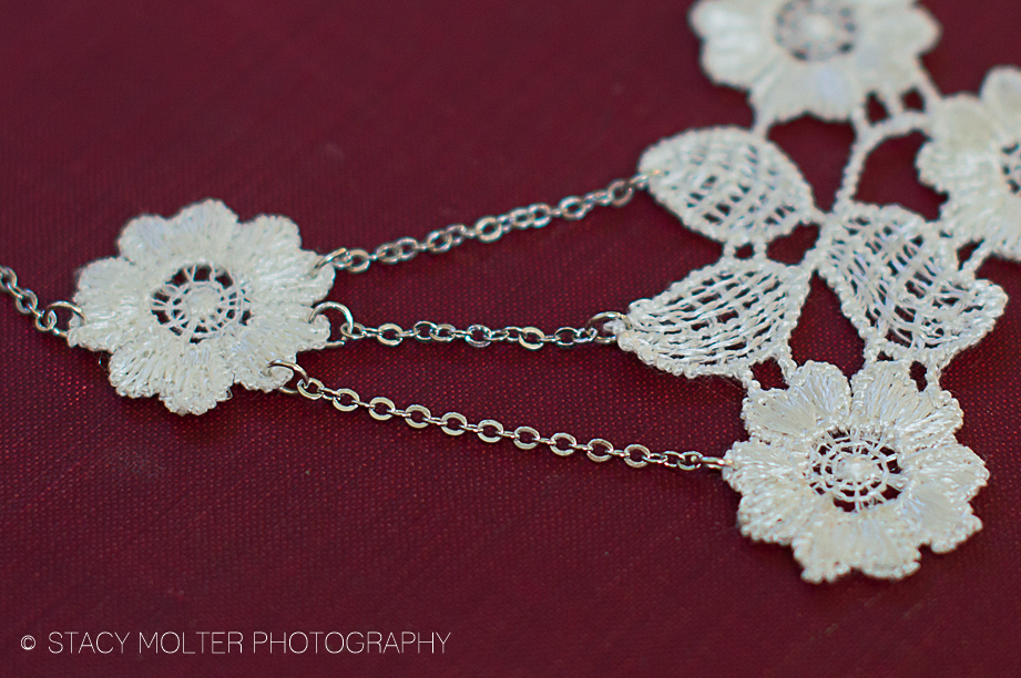 Elegant Floral Lace Necklace - Martha Stewart #12monthsofmartha