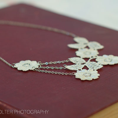 Elegant DIY Floral Lace Necklace