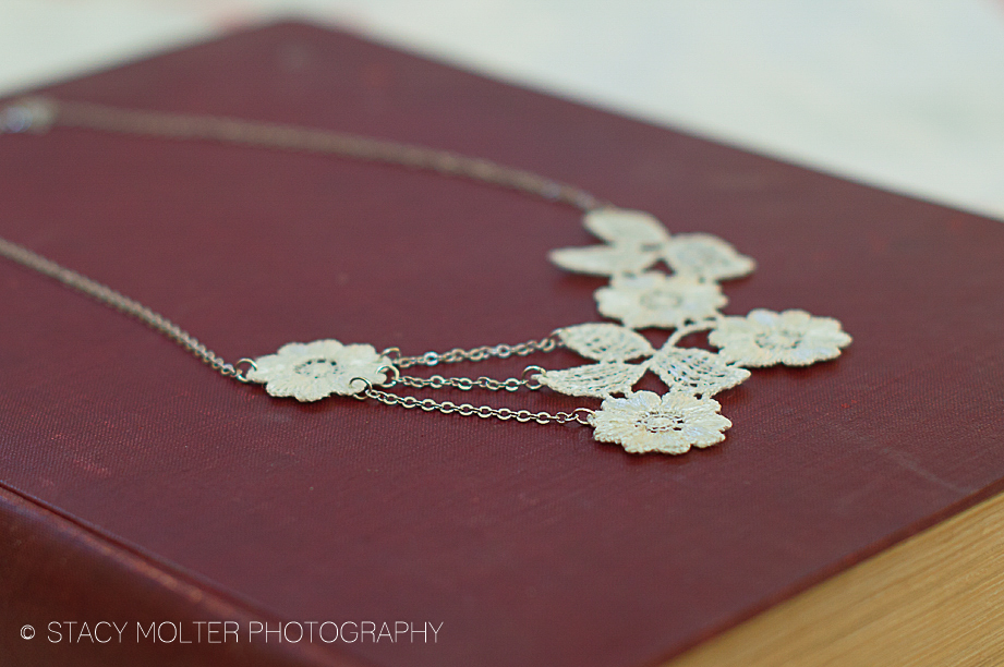 Elegant DIY Floral Lace Necklace - Martha Stewart #12monthsofmartha