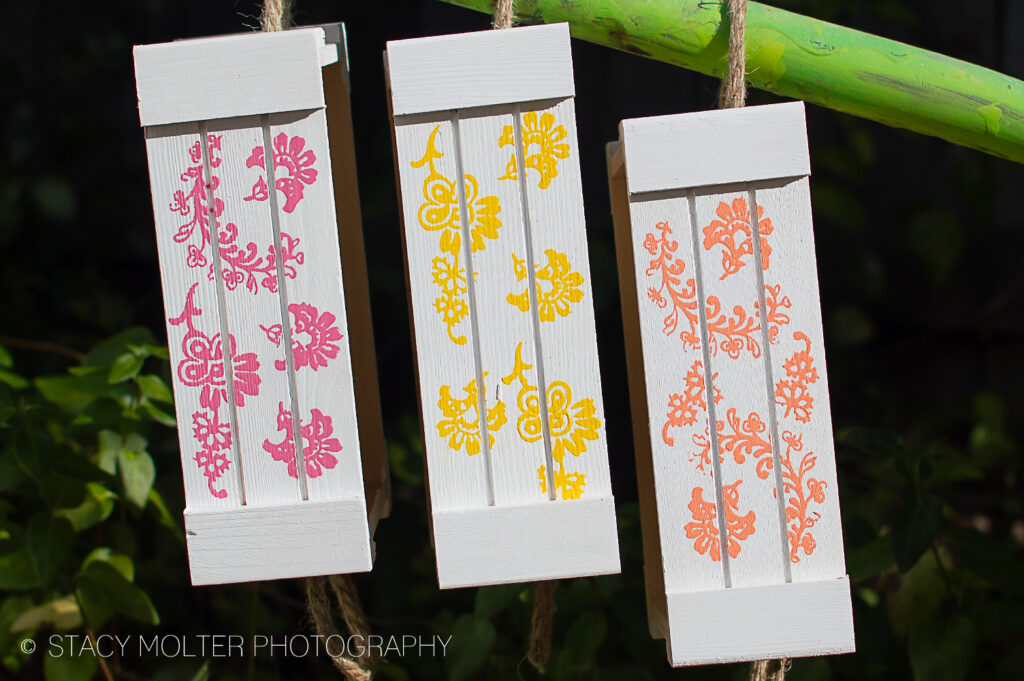 Stenciled Wood Pallet Crates