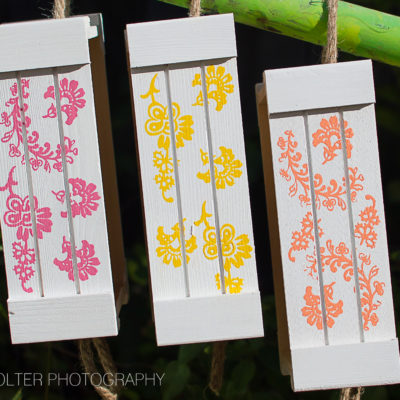 DIY Stenciled Wood Pallet Crates