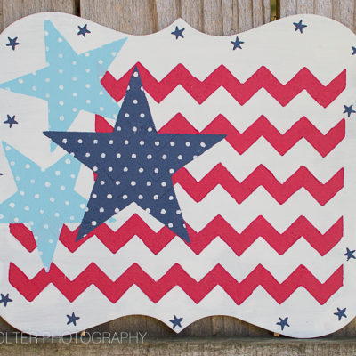 DIY Patriotic Wood Sign