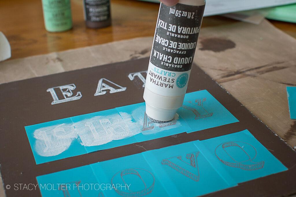 Eat Pray Love DIY Chalkboard Sign