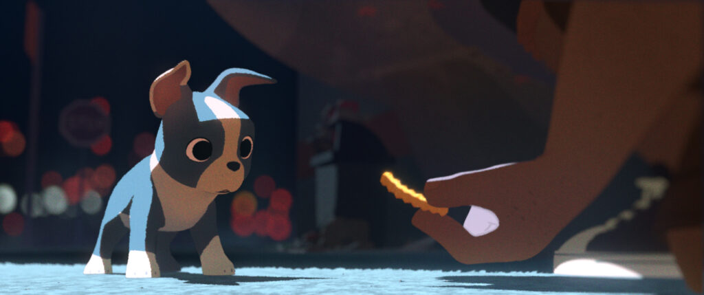 ?Feast,? a new short from first-time director Patrick Osborne (head of animation for ?Paperman?) and Walt Disney Animation Studios, is the story of one man?s love life as seen through the eyes of his best friend and dog, Winston, and revealed bite by bite through the meals they share. ?2014 Disney. All Rights Reserved.