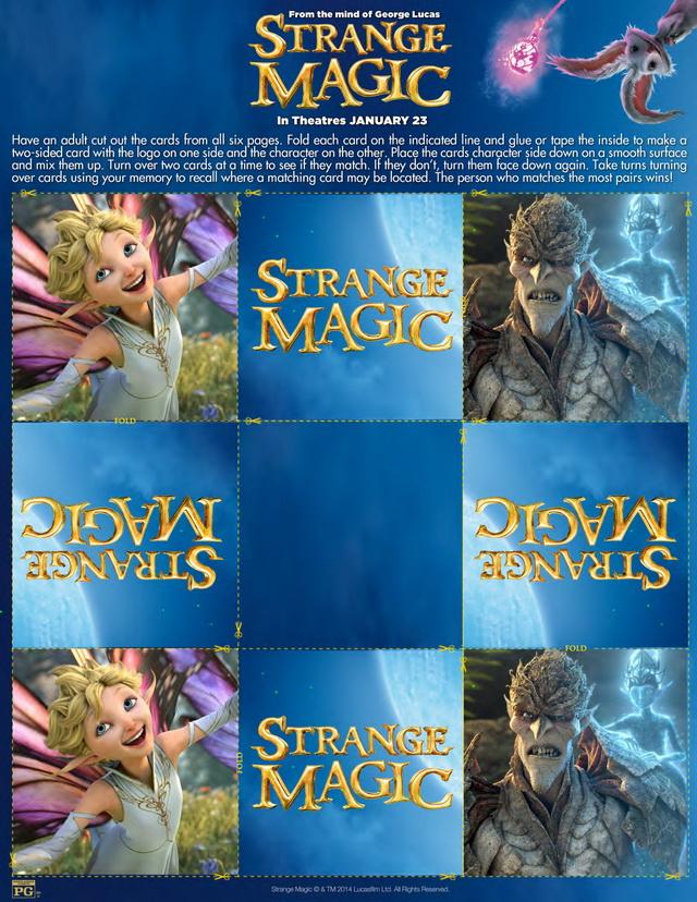 Strange Magic Activity Sheets #StrangeMagicEvent