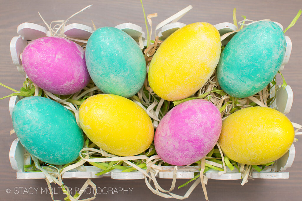 Frosted Glitter Easter Eggs Ideas