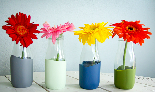 DIY Paint Dipped Vases