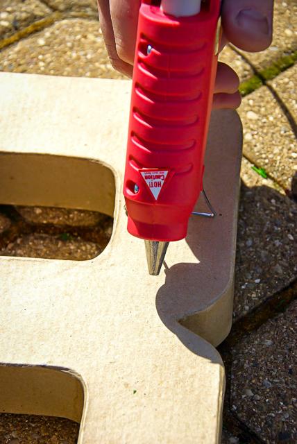 Moss Letter DIY - Outdoor Art
