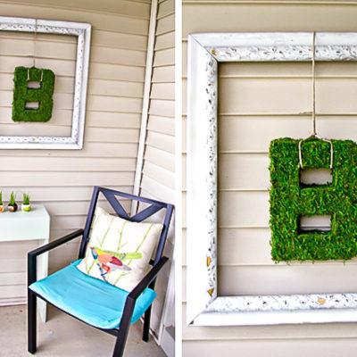 Moss Letter Art Project