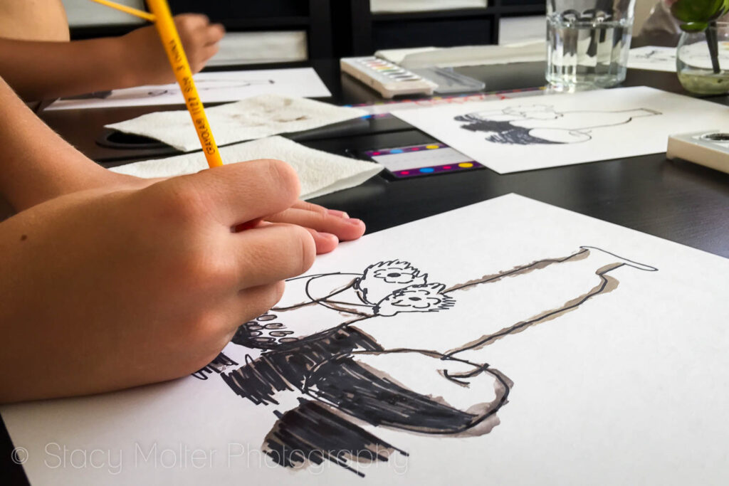 Large Scale Ink Drawings Kids Activity