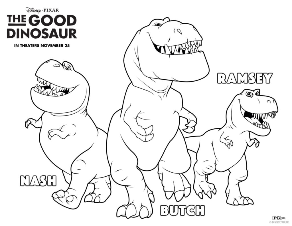 Disney•Pixar The Good Dinosaur Pumpkin Stencil and Activity Sheet