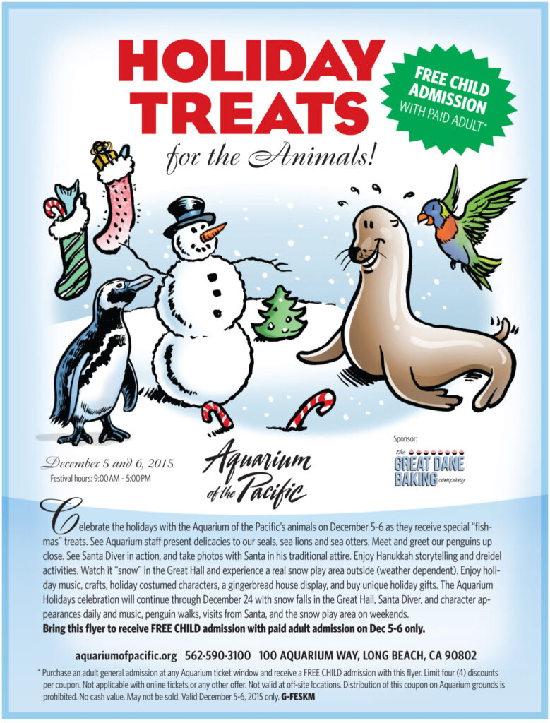 Holiday Treats Festival for the Animals - Aquarium of the Pacific Ticket Giveaway