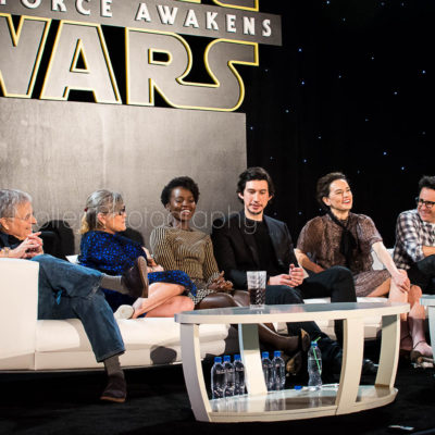 Star Wars: The Force Awakens Press Conference and Cast Interviews with Carrie Fisher, JJ Abrams, Daisy Ridley, Adam Driver, Lupita Nyong'o, Lawrence Kasdan