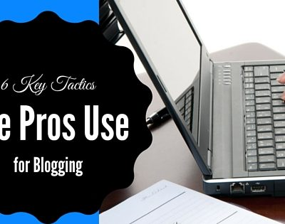 6 Key Tactics the Pros Use For Blogging
