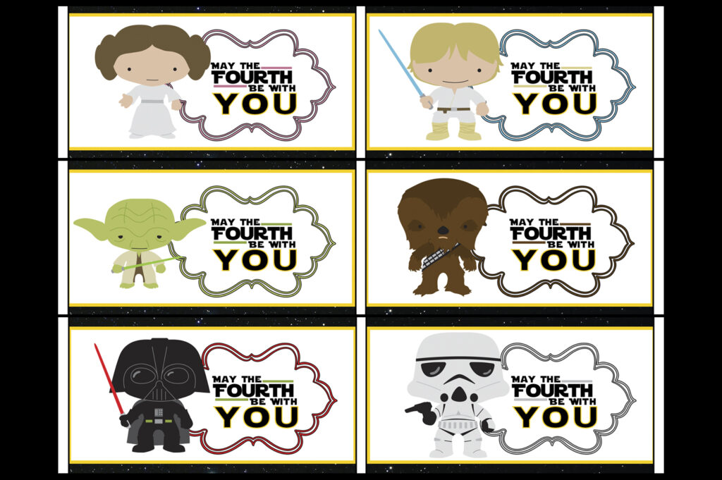 Star Wars May The Fourth Be With You Party Printables