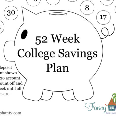 52 Week College Savings Plan Worksheets