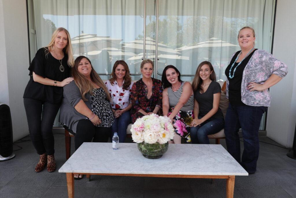 Talking Motherhood with Bad Moms Mila Kunis, Katherine Hahn, Christina Applegate, Annie Mumolo