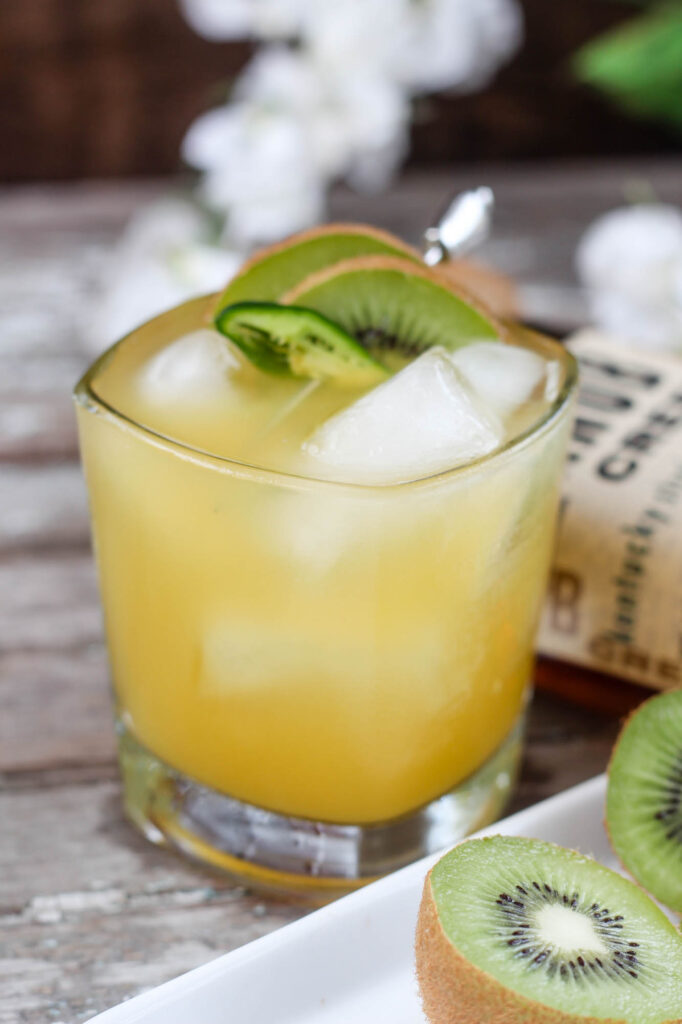 Spicy Tropical Bourbon Cocktail
