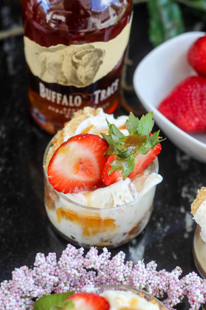 Key Lime Ice Cream with Bourbon & Strawberry