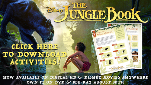 Free Printables - Disney's The Jungle Book Activity Sheets