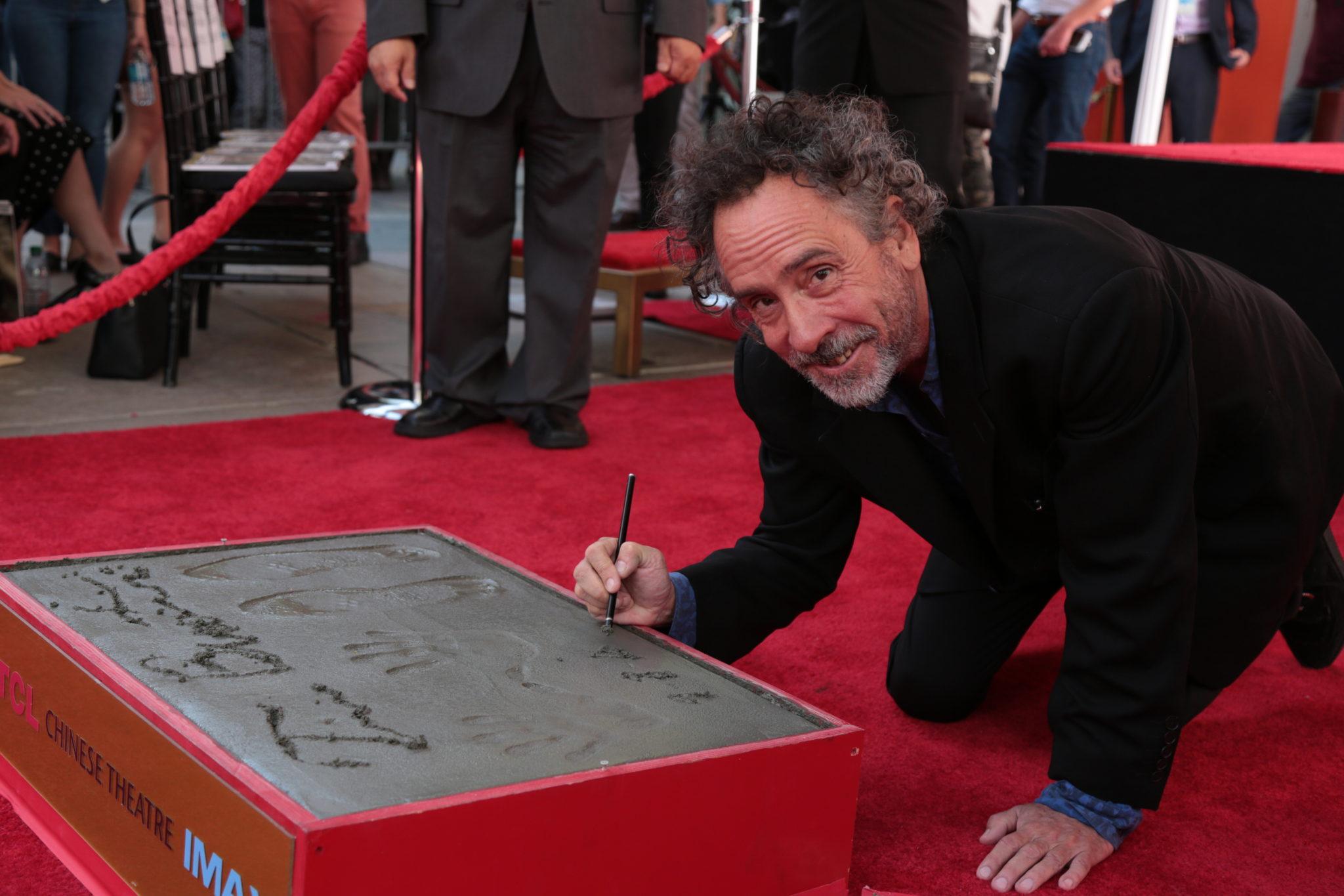 Tim Burton Honored at Hollywood Handprint Ceremony