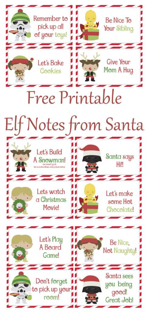 Free Printable Elf Notes from Santa
